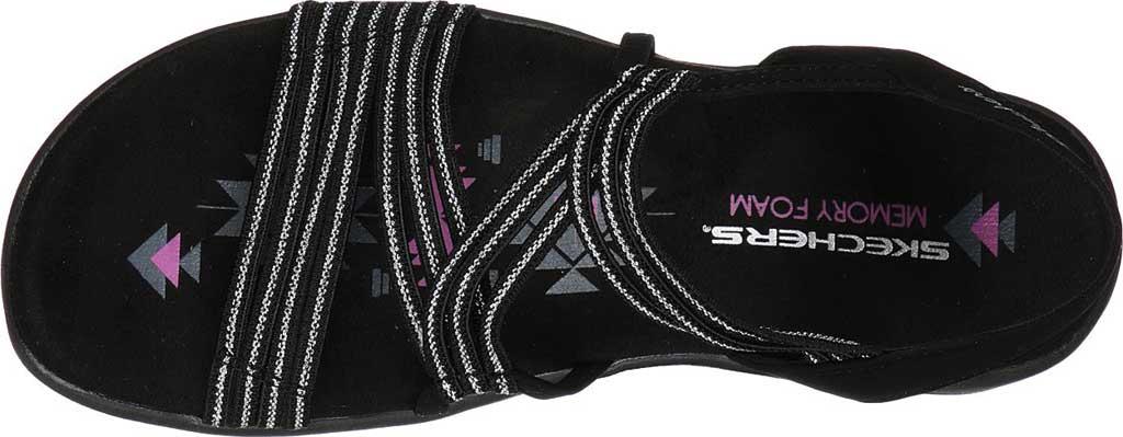 Women's Skechers Reggae Slim Stretch Slinky Strappy Sandal, Black, large, image 4