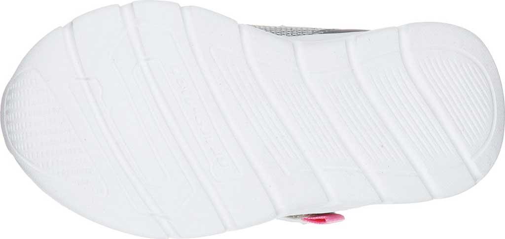 Infant Girls' Skechers Comfy Flex Moving On Sneaker, Silver/Hot Pink, large, image 5