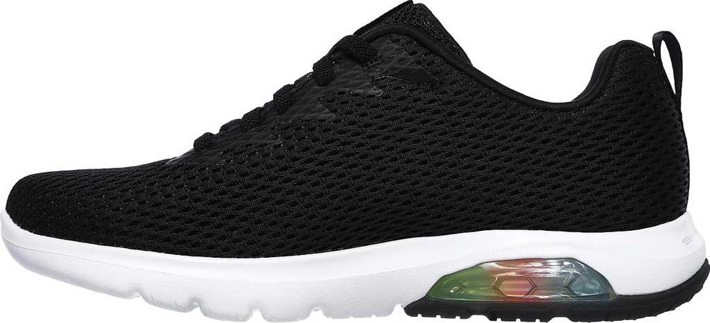 Women's Skechers GOwalk Air Whirl Sneaker, Black/White, large, image 3