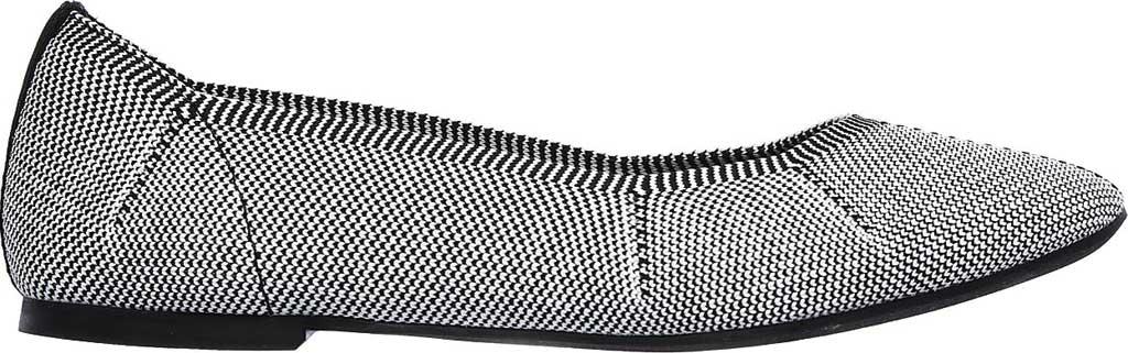 Women's Skechers Cleo Emerald Flat, Black/White, large, image 2