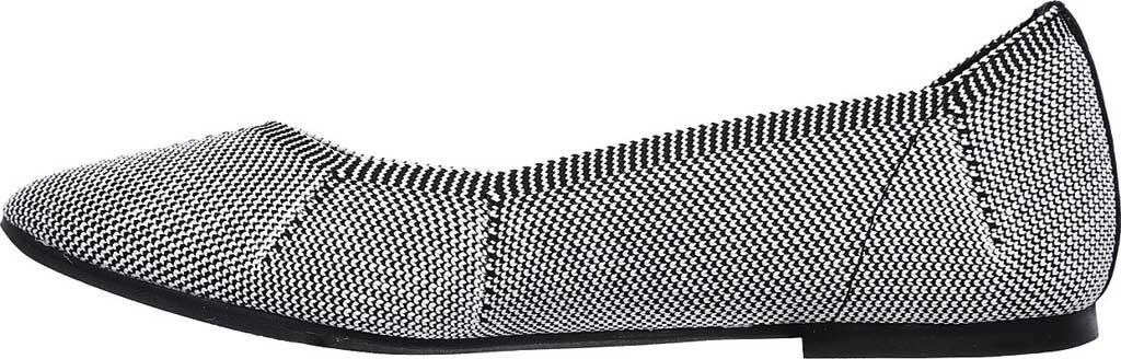 Women's Skechers Cleo Emerald Flat, Black/White, large, image 3