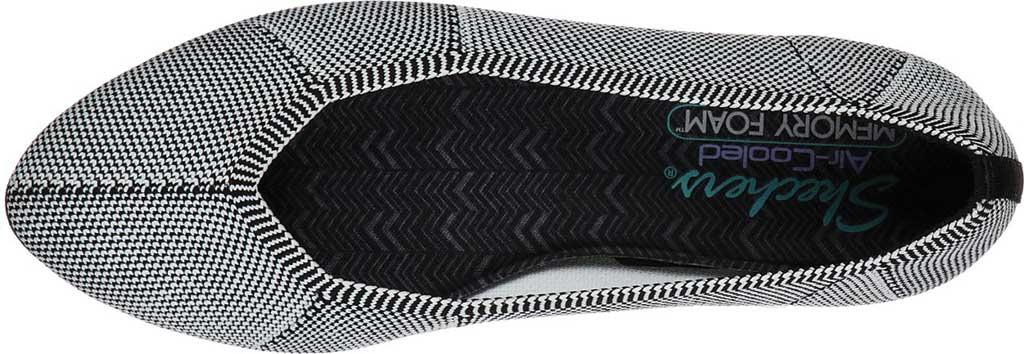 Women's Skechers Cleo Emerald Flat, Black/White, large, image 4