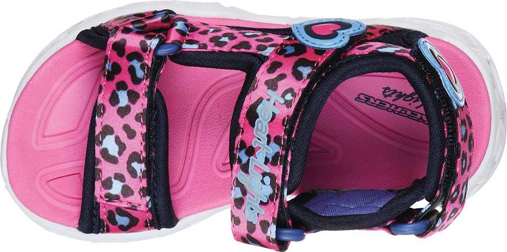 Infant Girls' Skechers S Lights Heart Lights Savvy Cat Sandal, Hot Pink/Blue, large, image 4