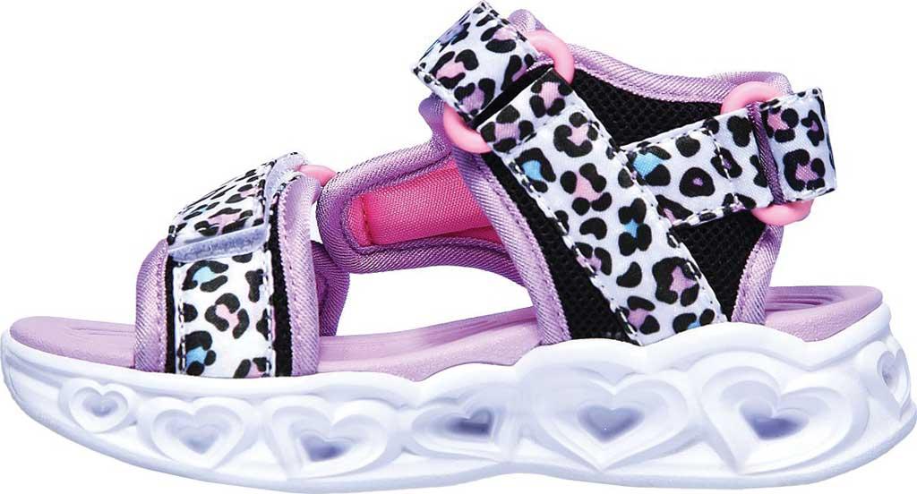 Infant Girls' Skechers S Lights Heart Lights Savvy Cat Sandal, White/Multi, large, image 3