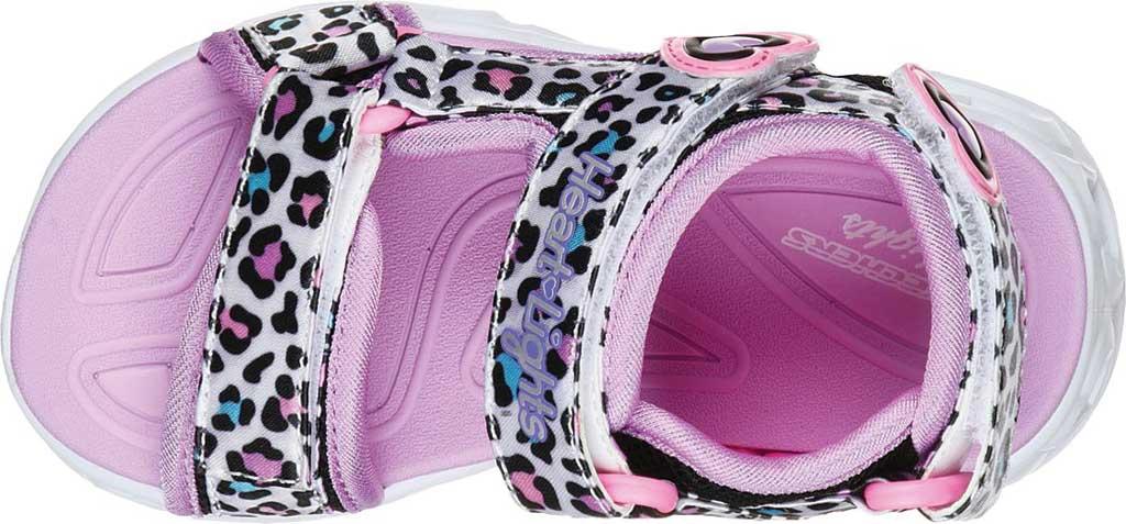 Infant Girls' Skechers S Lights Heart Lights Savvy Cat Sandal, White/Multi, large, image 4