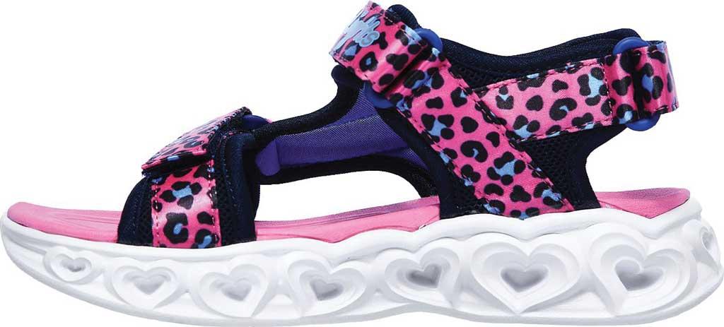 Girls' Skechers S Lights Heart Lights Savvy Cat Sport Sandal, Hot Pink/Blue, large, image 3