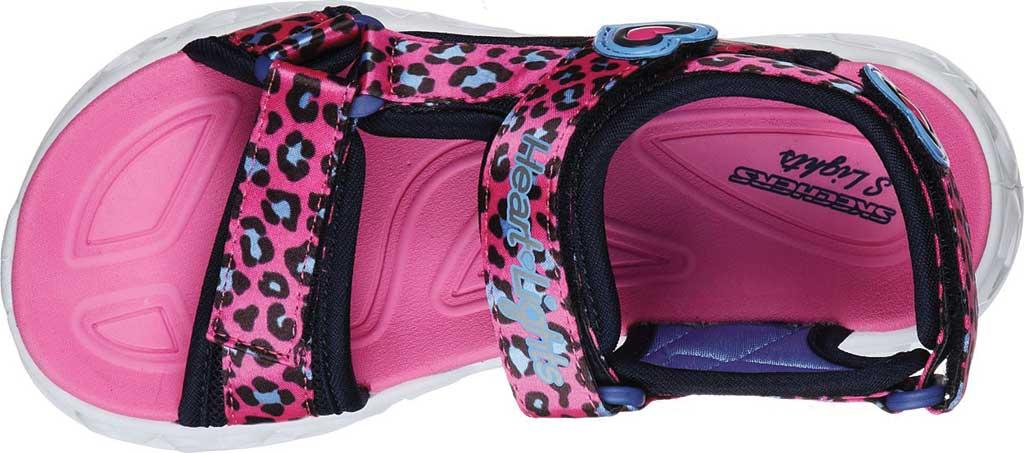 Girls' Skechers S Lights Heart Lights Savvy Cat Sport Sandal, Hot Pink/Blue, large, image 4