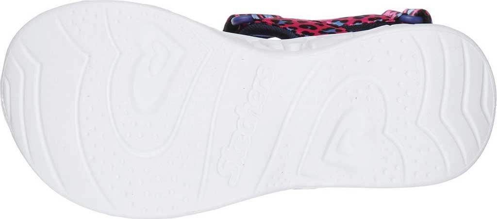 Girls' Skechers S Lights Heart Lights Savvy Cat Sport Sandal, Hot Pink/Blue, large, image 5
