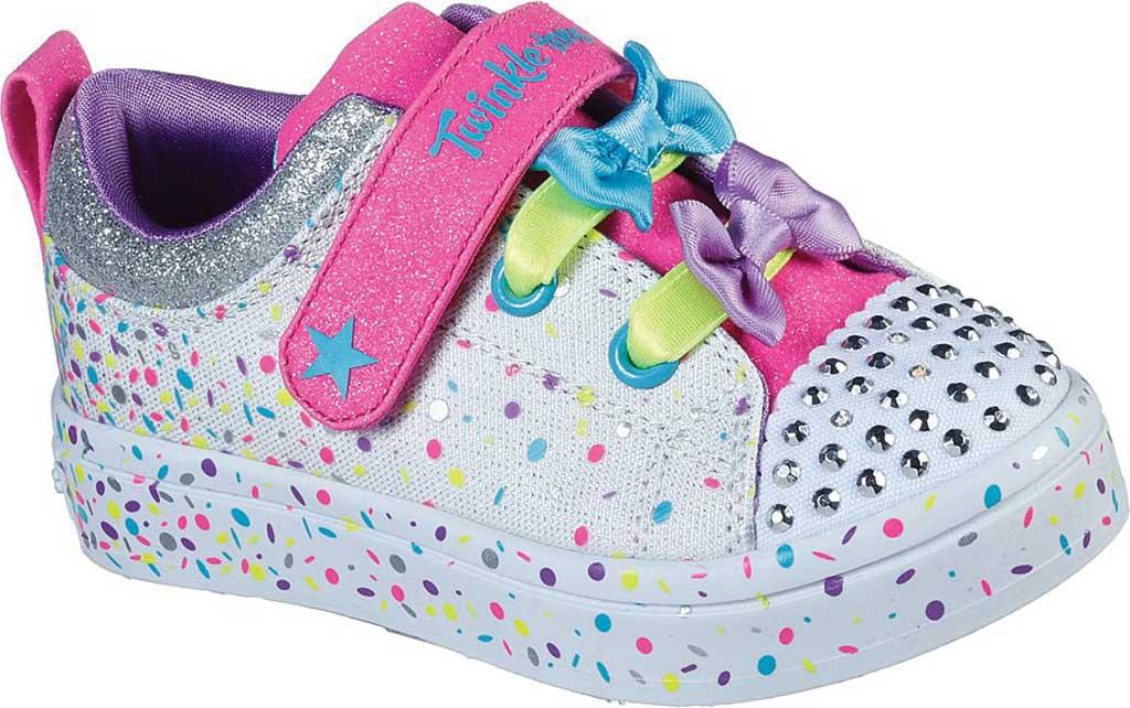 Infant Girls' Skechers Twinkle Toes Twi-Lites Confetti Princess Sneaker, White/Multi, large, image 1