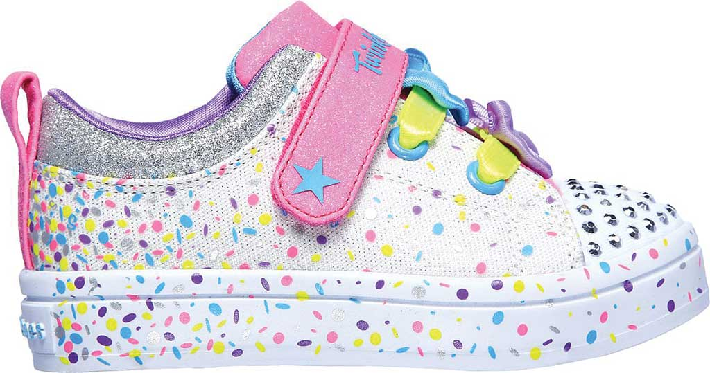 Infant Girls' Skechers Twinkle Toes Twi-Lites Confetti Princess Sneaker, White/Multi, large, image 2