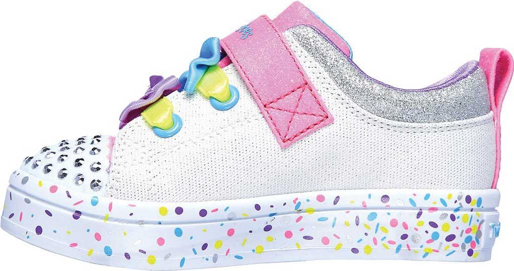Infant Girls' Skechers Twinkle Toes Twi-Lites Confetti Princess Sneaker, White/Multi, large, image 3
