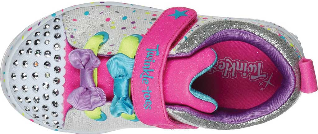 Infant Girls' Skechers Twinkle Toes Twi-Lites Confetti Princess Sneaker, White/Multi, large, image 4