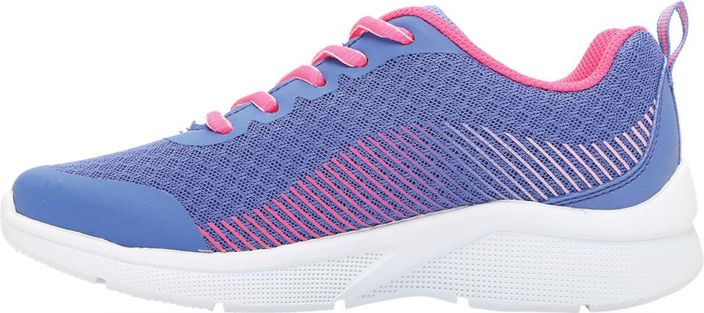 Girls' Skechers Microspec Radient Runner Sneaker, Blue/Neon Coral, large, image 3