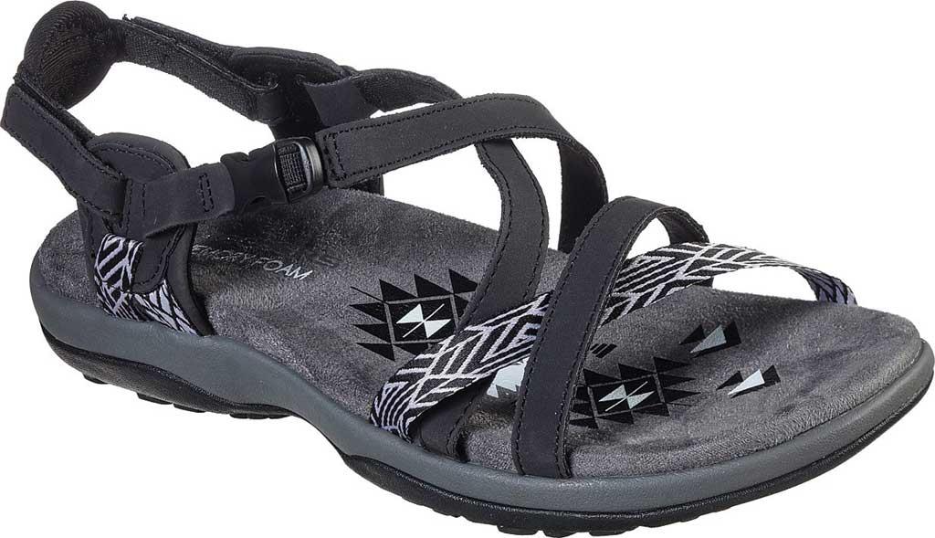 Women's Skechers Reggae Slim Staycation Strappy Sport Sandal, Black, large, image 1