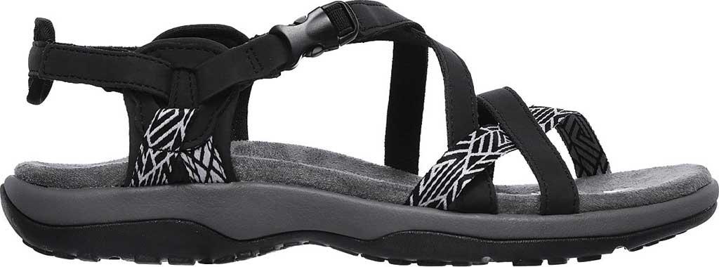 Women's Skechers Reggae Slim Staycation Strappy Sport Sandal, Black, large, image 2