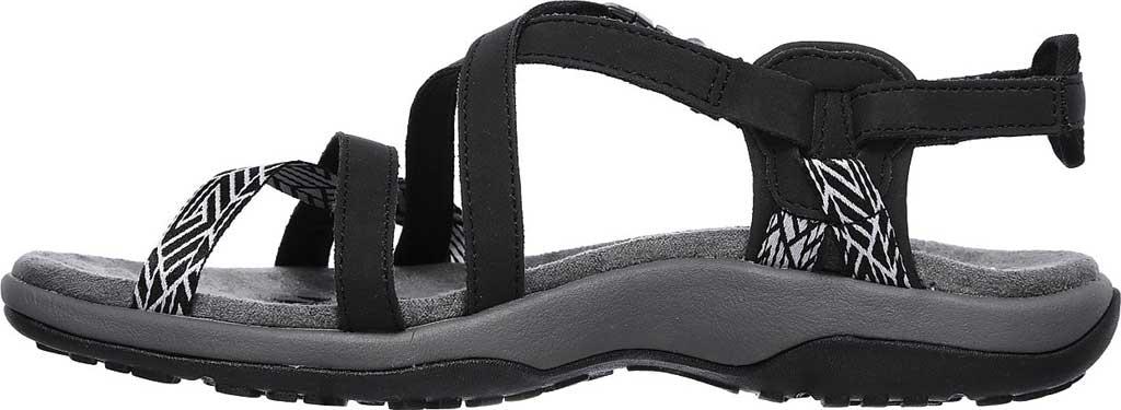 Women's Skechers Reggae Slim Staycation Strappy Sport Sandal, Black, large, image 3