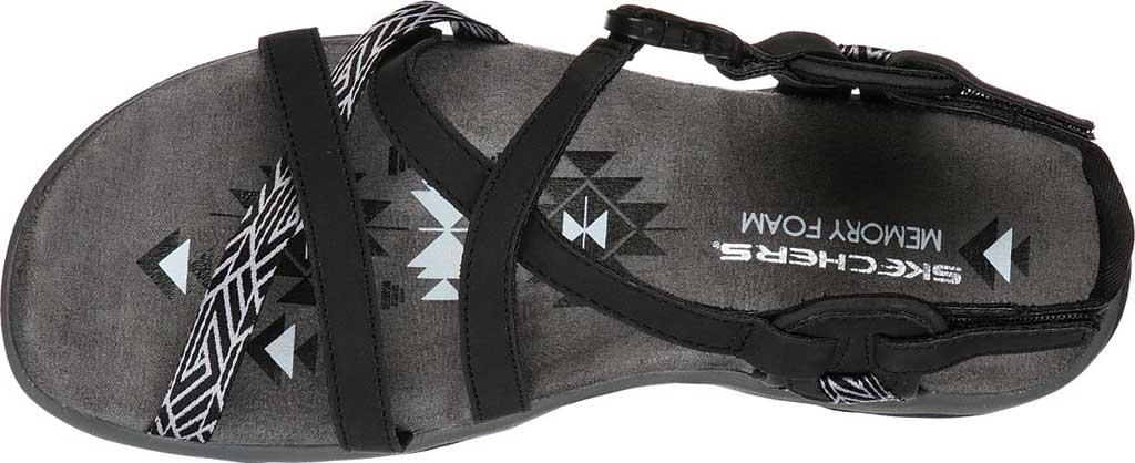 Women's Skechers Reggae Slim Staycation Strappy Sport Sandal, Black, large, image 4