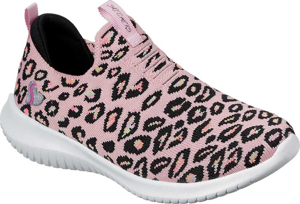 Girls' Skechers Ultra Flex Wild and Free Slip On Sneaker, Pink/Multi, large, image 1