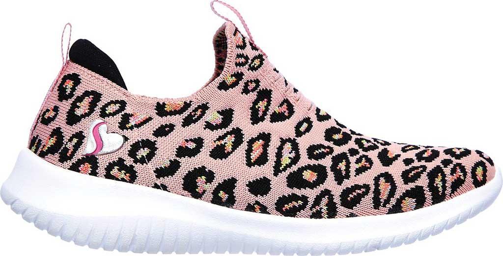 Girls' Skechers Ultra Flex Wild and Free Slip On Sneaker, Pink/Multi, large, image 2