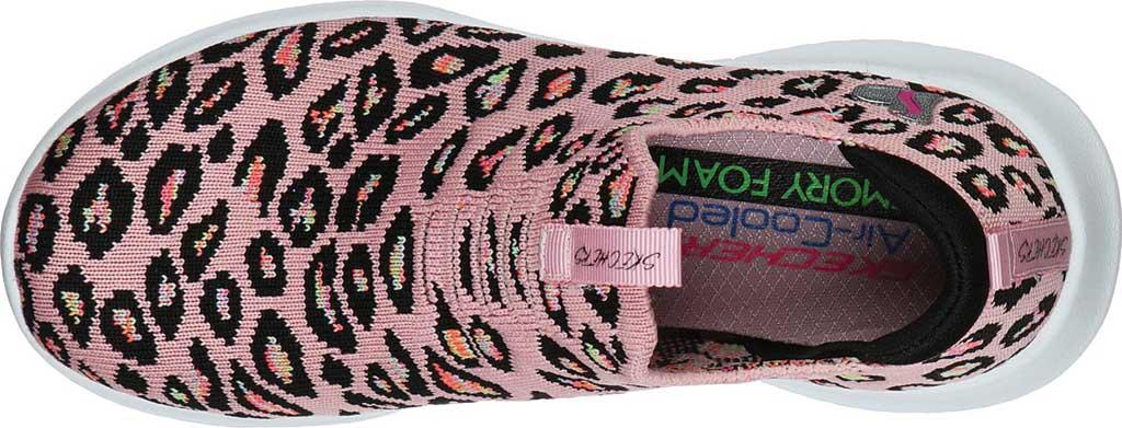 Girls' Skechers Ultra Flex Wild and Free Slip On Sneaker, Pink/Multi, large, image 4