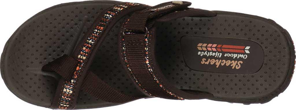 Women's Skechers Reggae Stockholm Toe Loop Sport Sandal, Chocolate, large, image 4