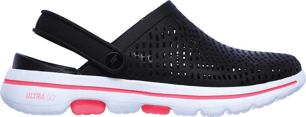 Women's Skechers Foamies Go Walk 5 Astonished Clog, Black/White, large, image 2