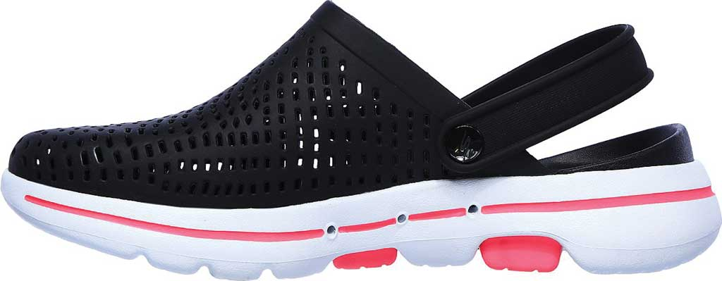 Women's Skechers Foamies Go Walk 5 Astonished Clog, Black/White, large, image 3