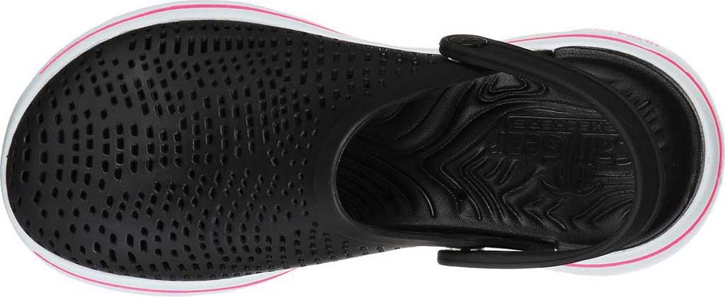 Women's Skechers Foamies Go Walk 5 Astonished Clog, Black/White, large, image 4