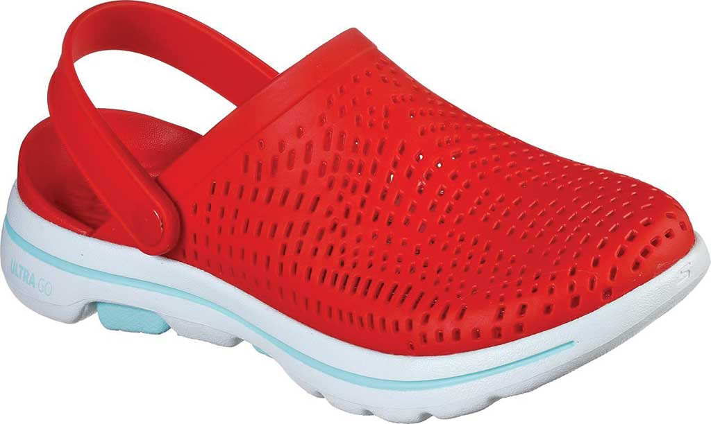 Women's Skechers Foamies Go Walk 5 Astonished Clog, Red, large, image 1