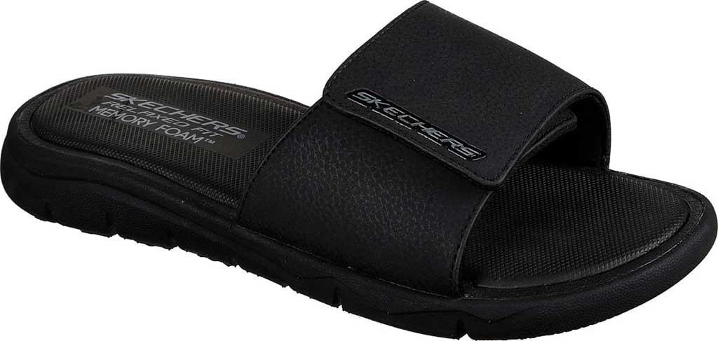 Men's Skechers Relaxed Fit Crenesi Trenmore Slide, Black/Black, large, image 1