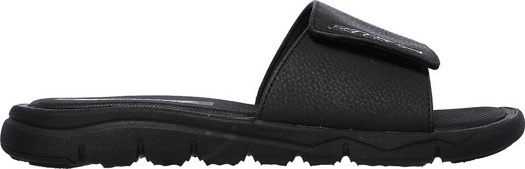 Men's Skechers Relaxed Fit Crenesi Trenmore Slide, Black/Black, large, image 2