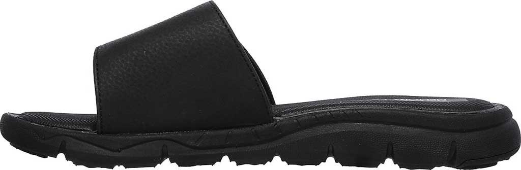 Men's Skechers Relaxed Fit Crenesi Trenmore Slide, Black/Black, large, image 3