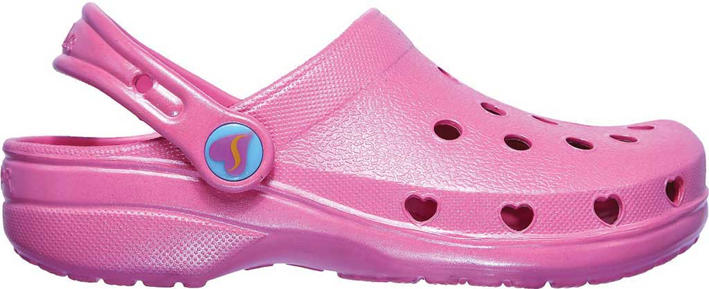 Girls' Skechers Foamies Heart Charmer Sweet Breeze Clog, Pink, large, image 2