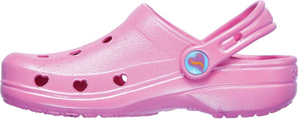 Girls' Skechers Foamies Heart Charmer Sweet Breeze Clog, Pink, large, image 3