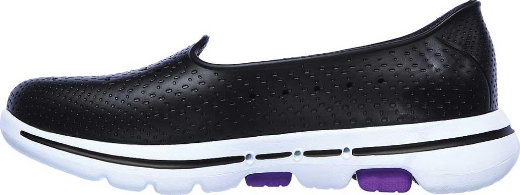 Women's Skechers Foamies Go Walk 5 Sun Kissed Slip-On, Black/White, large, image 3