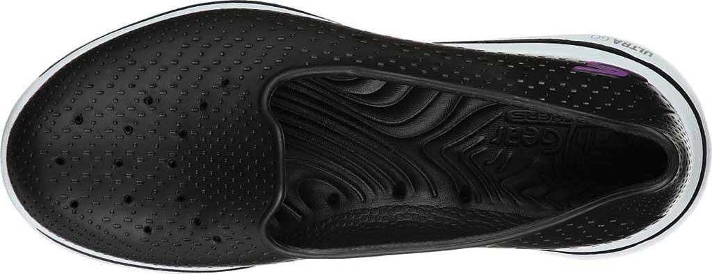 Women's Skechers Foamies Go Walk 5 Sun Kissed Slip-On, Black/White, large, image 4