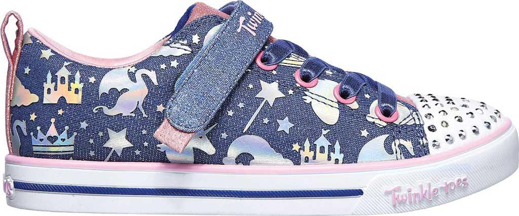 Girls' Skechers Twinkle Toes Sparkle Lite Princessland Sneaker, Light Blue/Multi, large, image 2