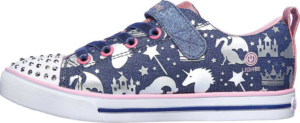 Girls' Skechers Twinkle Toes Sparkle Lite Princessland Sneaker, Light Blue/Multi, large, image 3