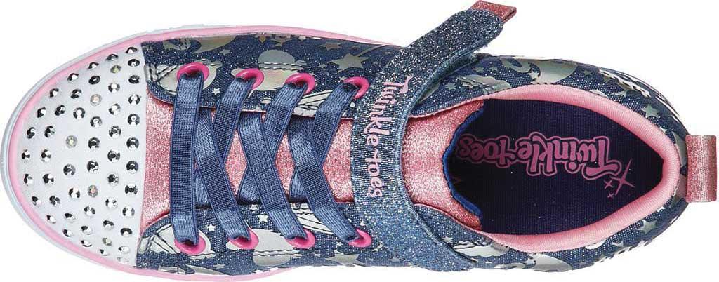 Girls' Skechers Twinkle Toes Sparkle Lite Princessland Sneaker, Light Blue/Multi, large, image 4