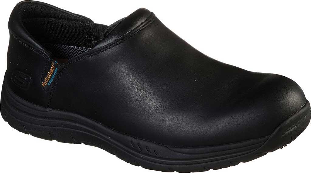Men's Skechers Work Relaxed Fit Ostego Eckington WP SR Shoe, Black, large, image 1