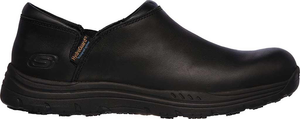 Men's Skechers Work Relaxed Fit Ostego Eckington WP SR Shoe, Black, large, image 2