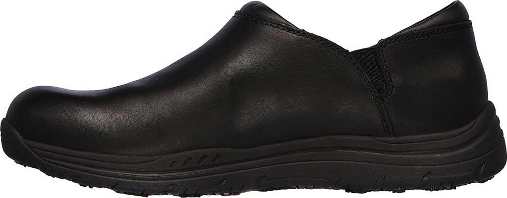 Men's Skechers Work Relaxed Fit Ostego Eckington WP SR Shoe, Black, large, image 3
