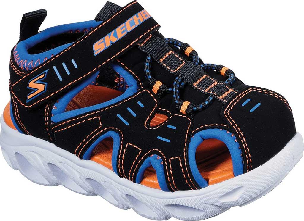 Infant Boys' Skechers S Lights Hypno-Splash Splash N Play Sandal, Black/Blue/Orange, large, image 1