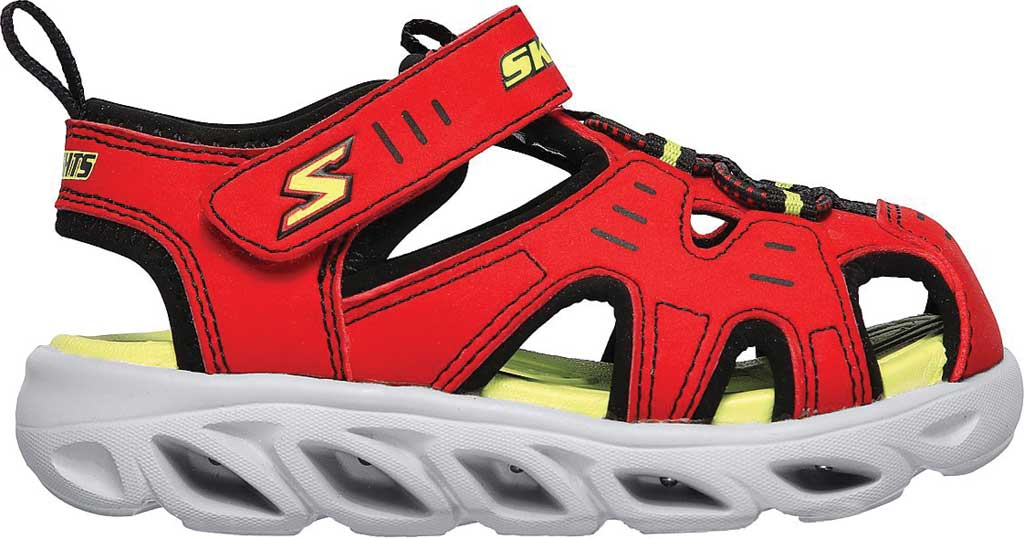Infant Boys' Skechers S Lights Hypno-Splash Splash N Play Sandal, Red/Black, large, image 2