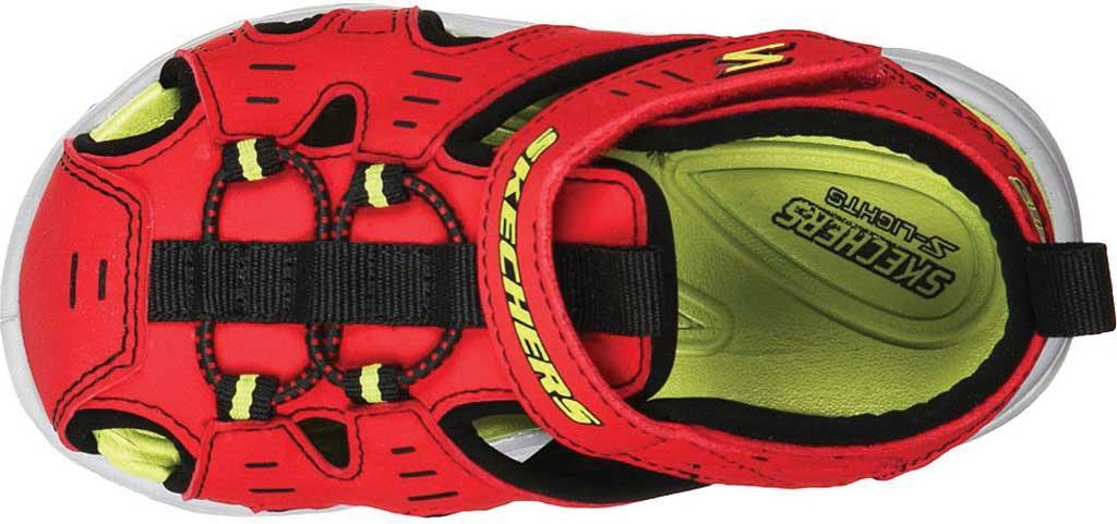 Infant Boys' Skechers S Lights Hypno-Splash Splash N Play Sandal, Red/Black, large, image 4