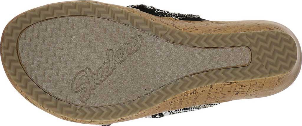 Women's Skechers Beverlee Golden Palace Wedge Slide, Black/Gold, large, image 5