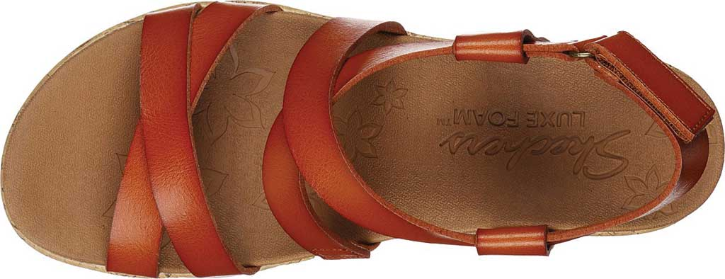 Women's Skechers Beverlee Dance Moves Strappy Wedge Sandal, Luggage, large, image 4