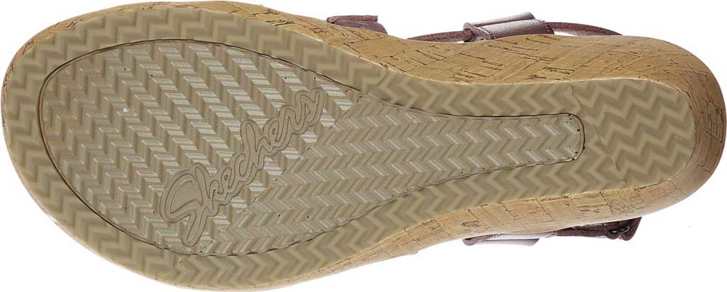 Women's Skechers Beverlee Dance Moves Strappy Wedge Sandal, Mauve, large, image 5