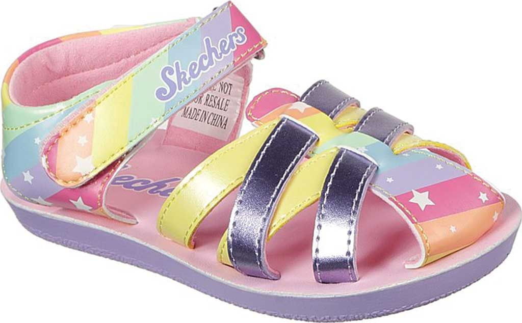 Infant Girls' Skechers Buttercups Catching Stars Sandal, Lavender/Multi, large, image 1