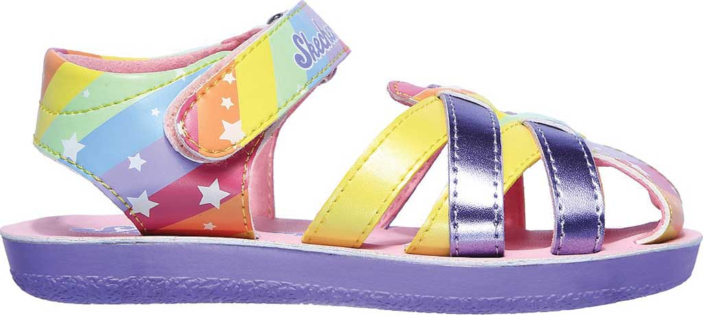 Infant Girls' Skechers Buttercups Catching Stars Sandal, Lavender/Multi, large, image 2